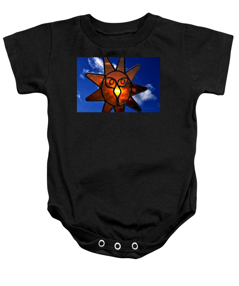 Donna Baby Onesie featuring the photograph Donna's Sunset by Thomas Woolworth