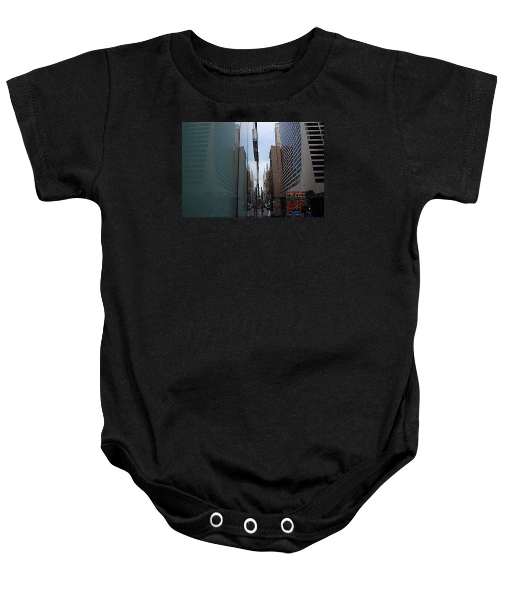 Streets Baby Onesie featuring the photograph Down E 43rd Street N Y C by John Schneider