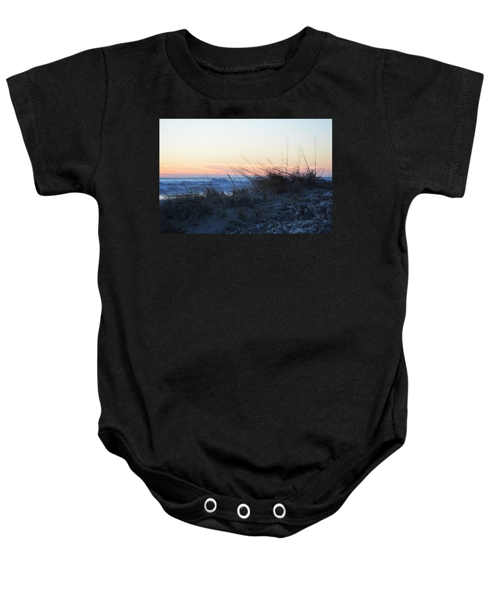 Lake Michigan Baby Onesie featuring the photograph Down Time by Linda Kerkau
