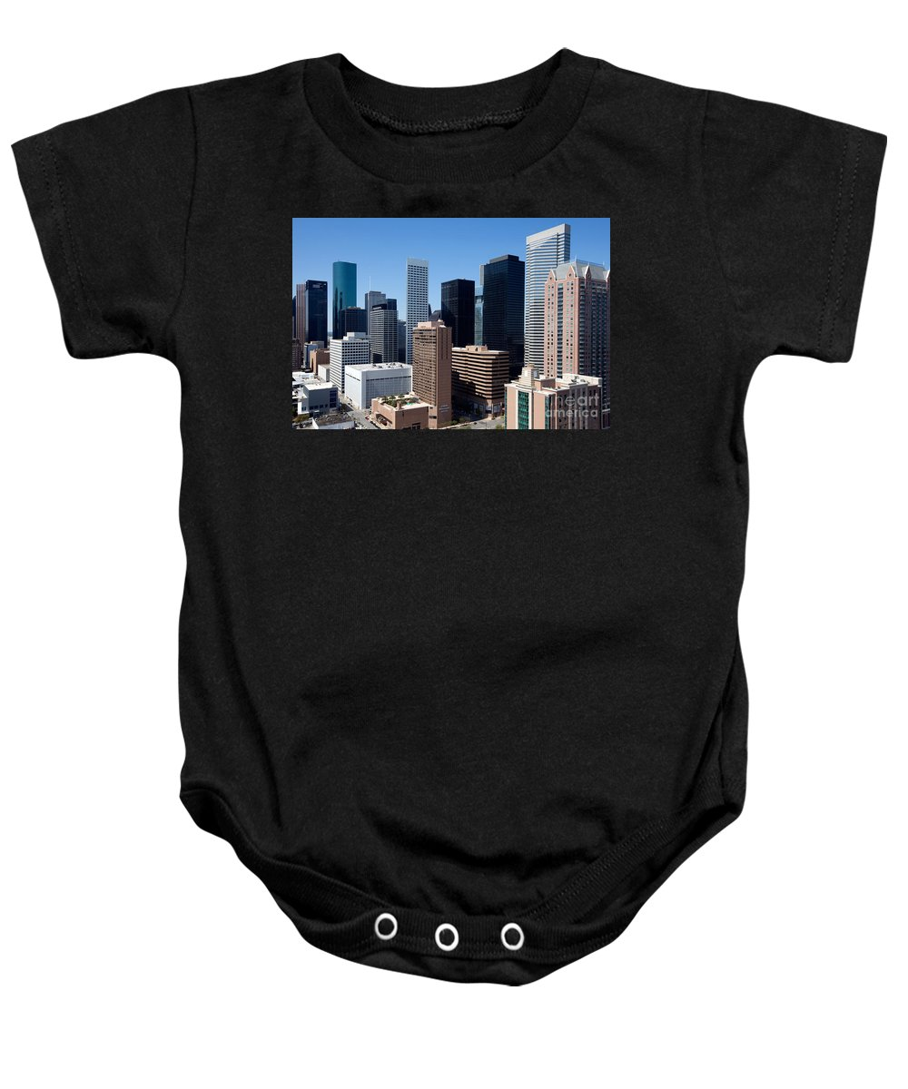 Houston Baby Onesie featuring the photograph Downtown Houston Texas by Bill Cobb