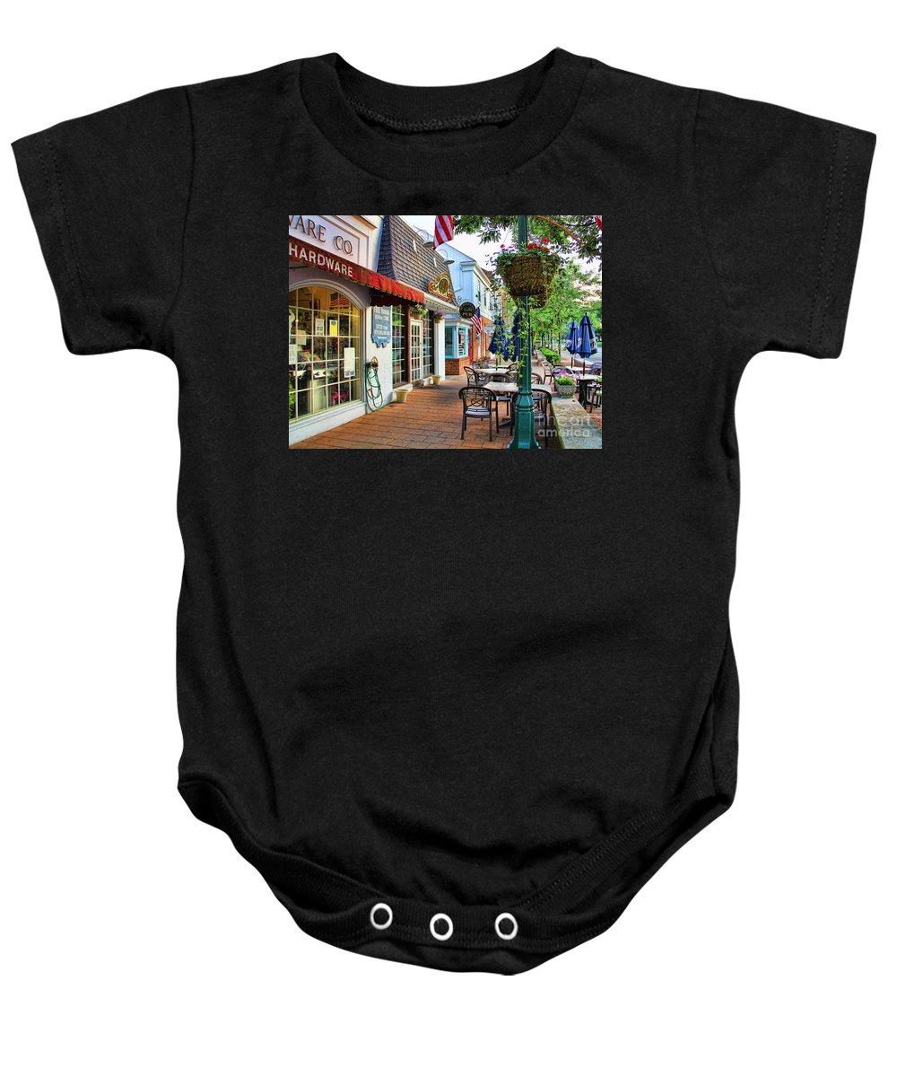 Downtown Worthington Ohio Baby Onesie featuring the photograph Downtown Worthington by Jack Schultz