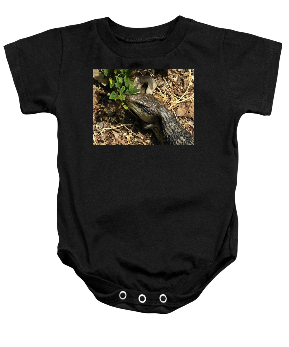 Dragon Baby Onesie featuring the photograph Dragon by Mark Blauhoefer