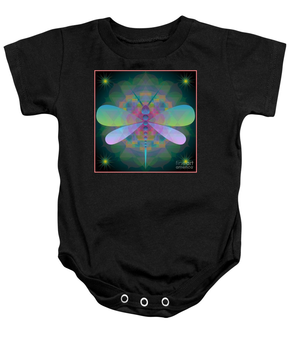 Digital Baby Onesie featuring the photograph Dragonfly 2013 by Kathryn Strick