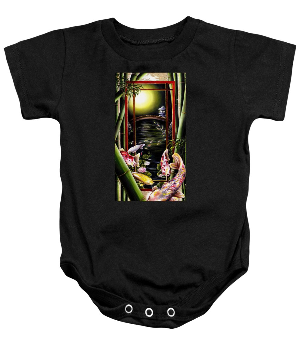 Japanese Baby Onesie featuring the painting Dream by Hiroko Sakai