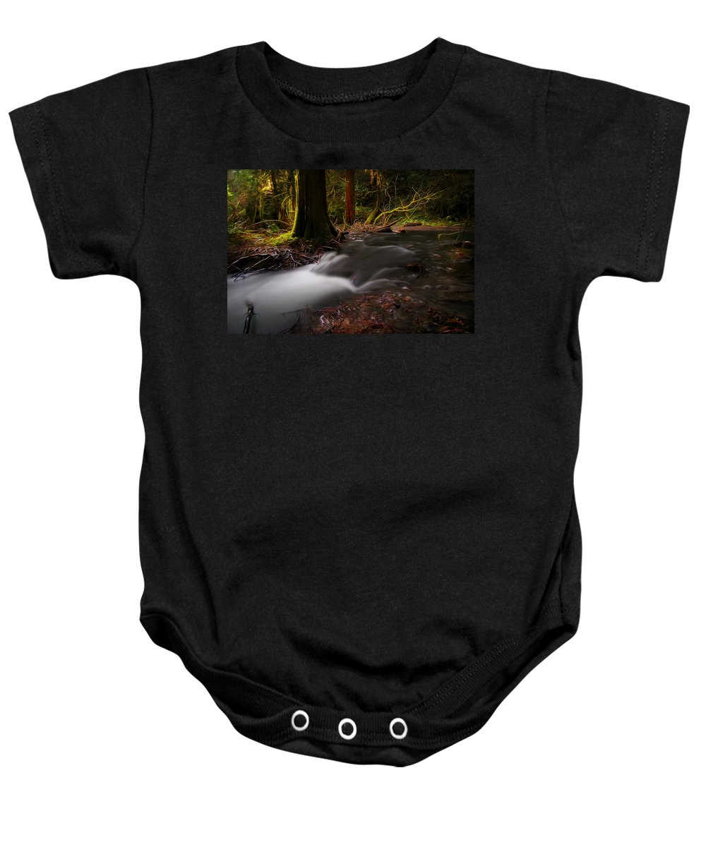 Nature Baby Onesie featuring the digital art Dreaming Forest by William Horden