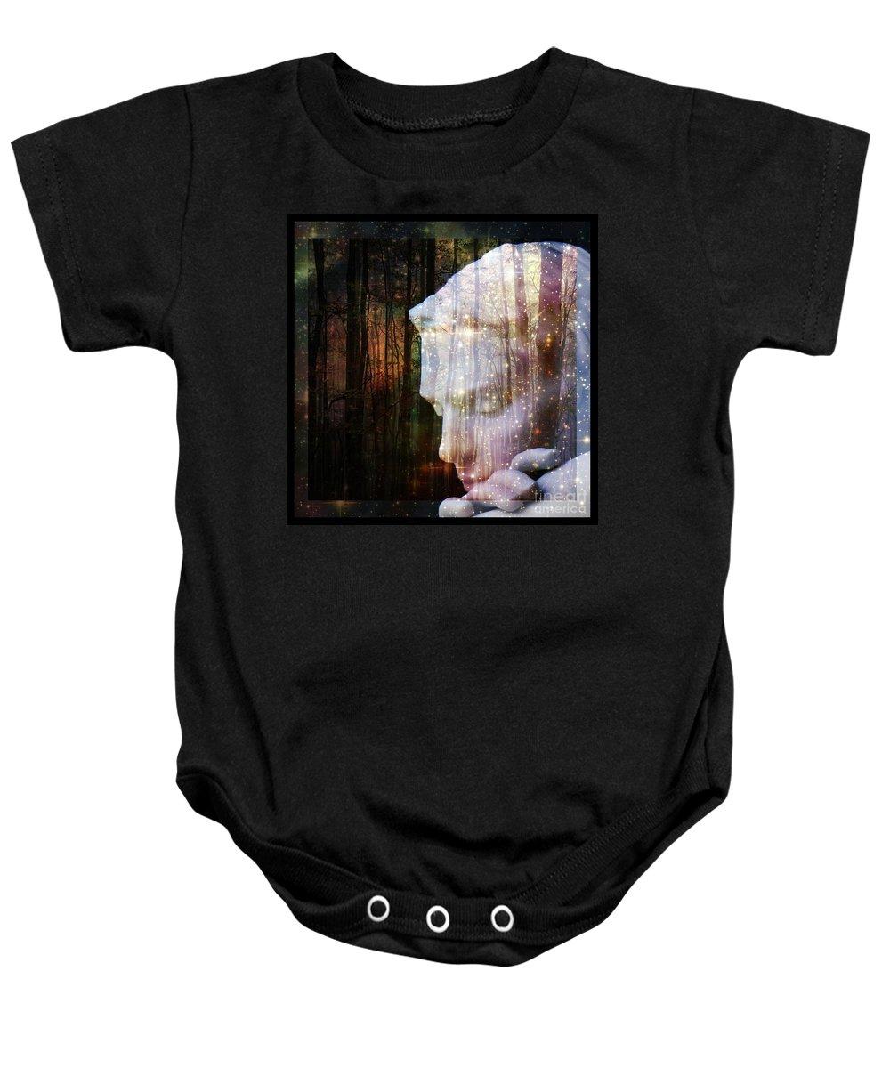Of Lucid Dreams / Dreamscape 4 Baby Onesie featuring the digital art Of Lucid Dreams / Dreamscape 4 by Elizabeth McTaggart