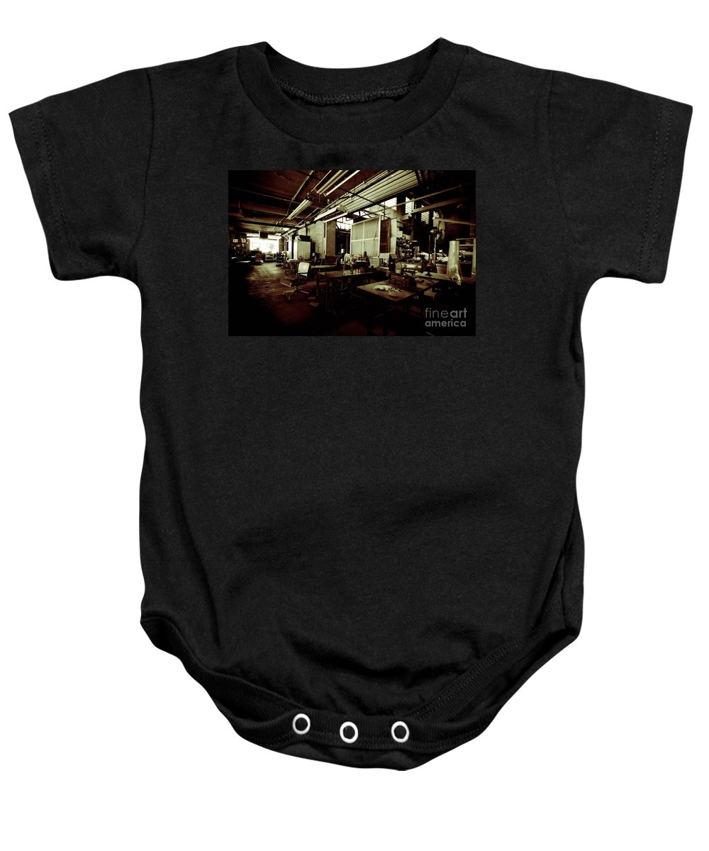 Alterations Baby Onesie featuring the photograph Dry Cleaning Plant by Amy Cicconi
