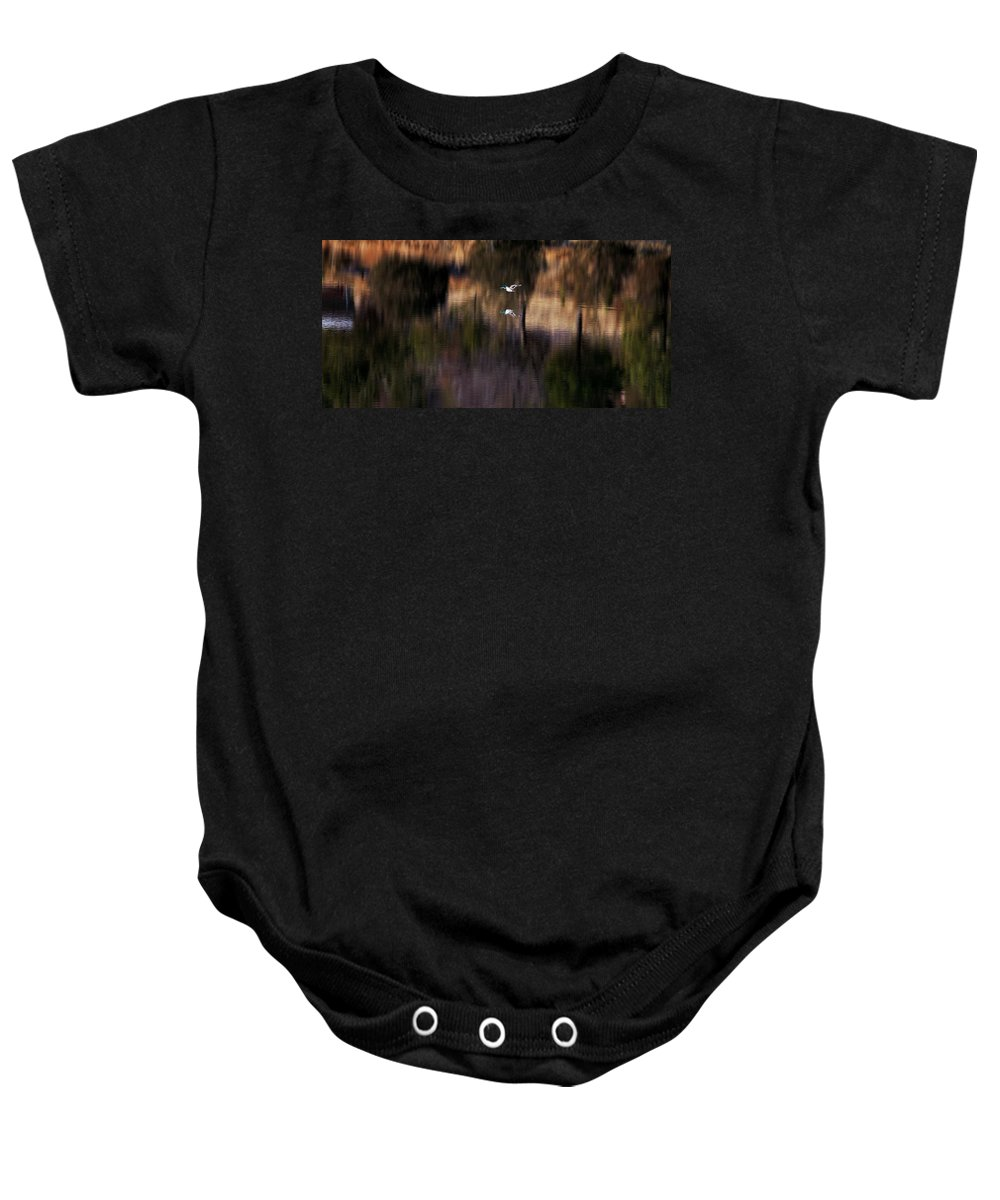 Mallard Baby Onesie featuring the photograph Duck Scape 2 by Donald J Gray