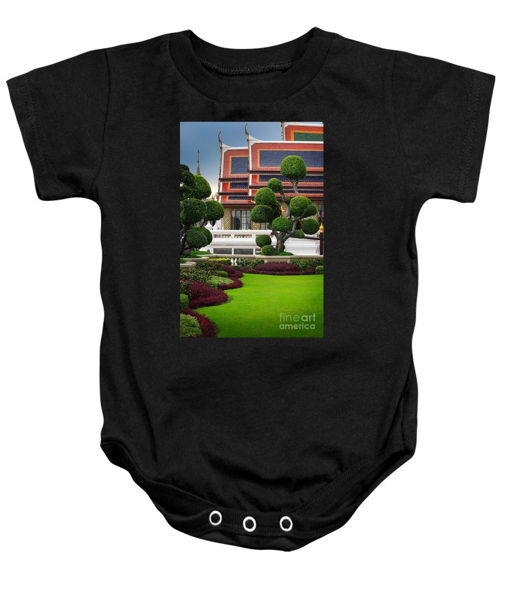Asia Baby Onesie featuring the photograph Dusita Phirom Hall by Inge Johnsson