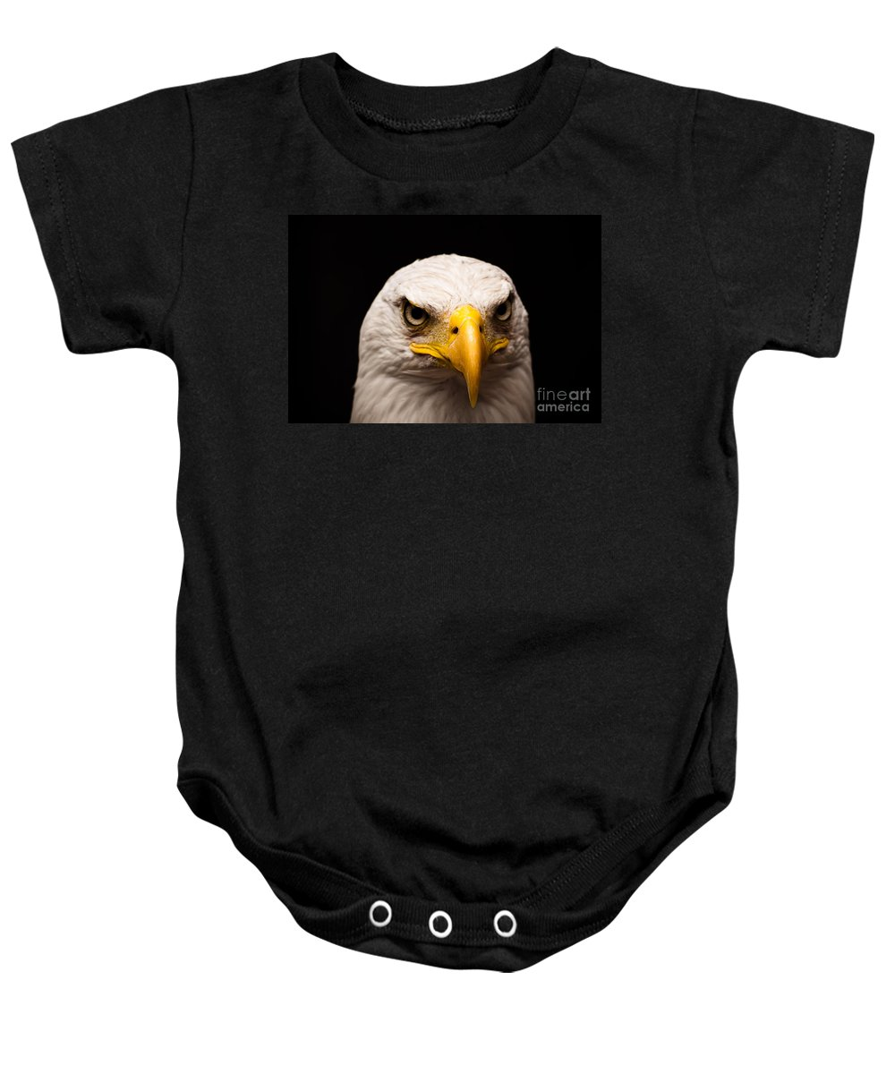 Bird Baby Onesie featuring the photograph Eagle Eyed by Brothers Beerens