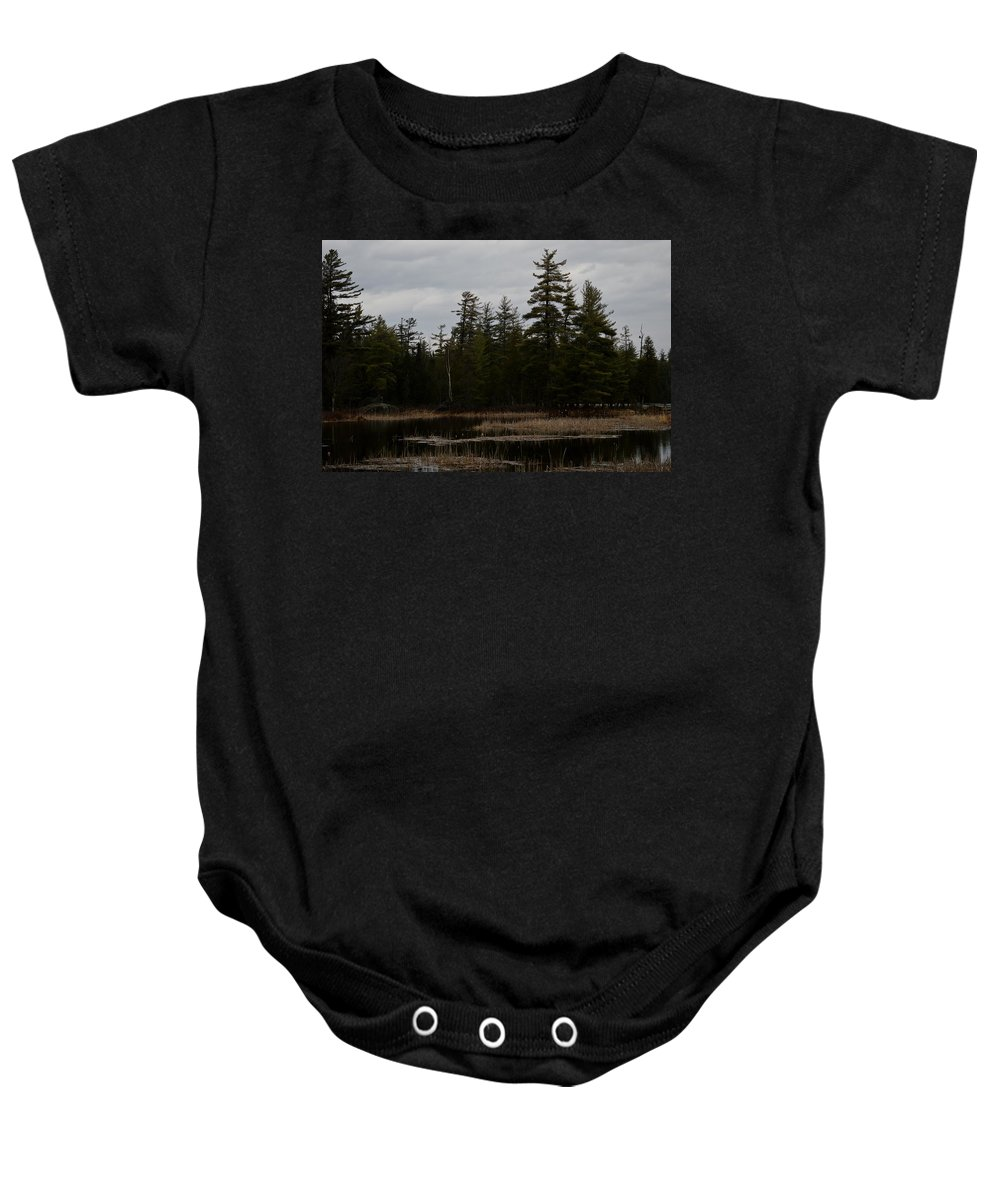 Bald Eagle Baby Onesie featuring the photograph Eagle Home by Thomas Phillips