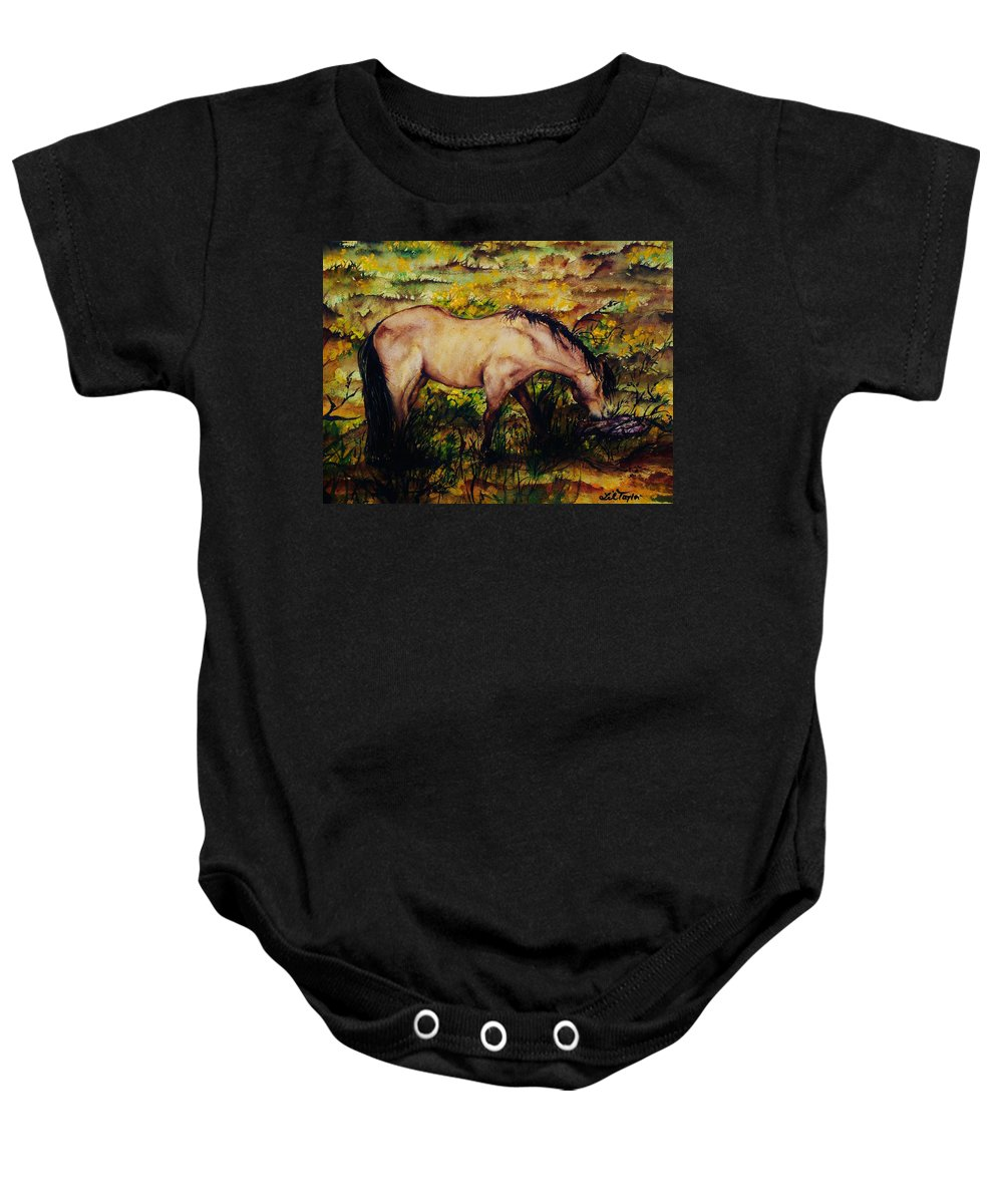 Morning Baby Onesie featuring the painting Early Morning Hours by Lil Taylor