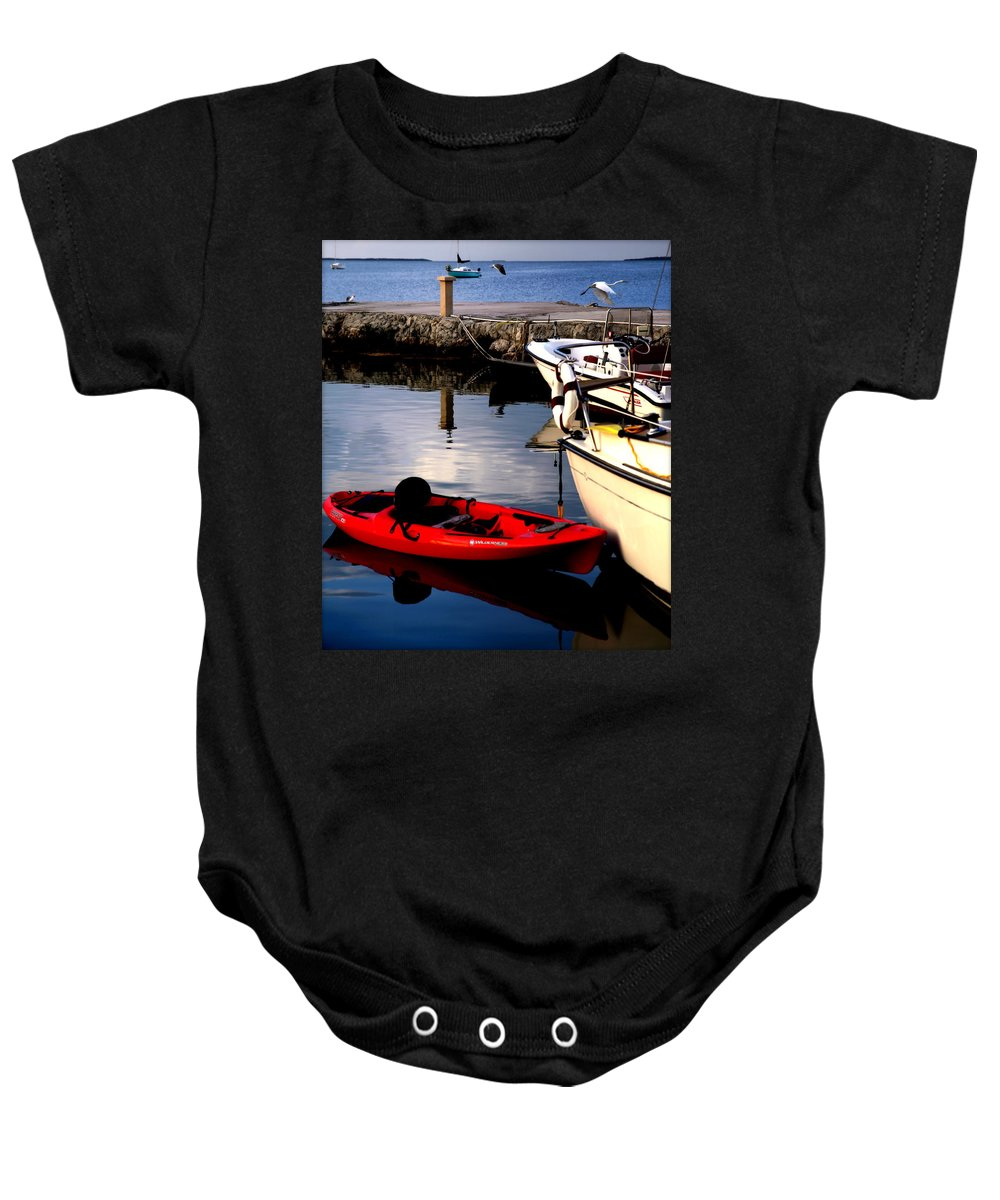Florida Keys Baby Onesie featuring the photograph Ease Of The Keys by Karen Wiles