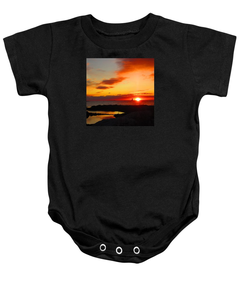 Nh Baby Onesie featuring the photograph East Coast Sunrise by Jeffrey Akerson