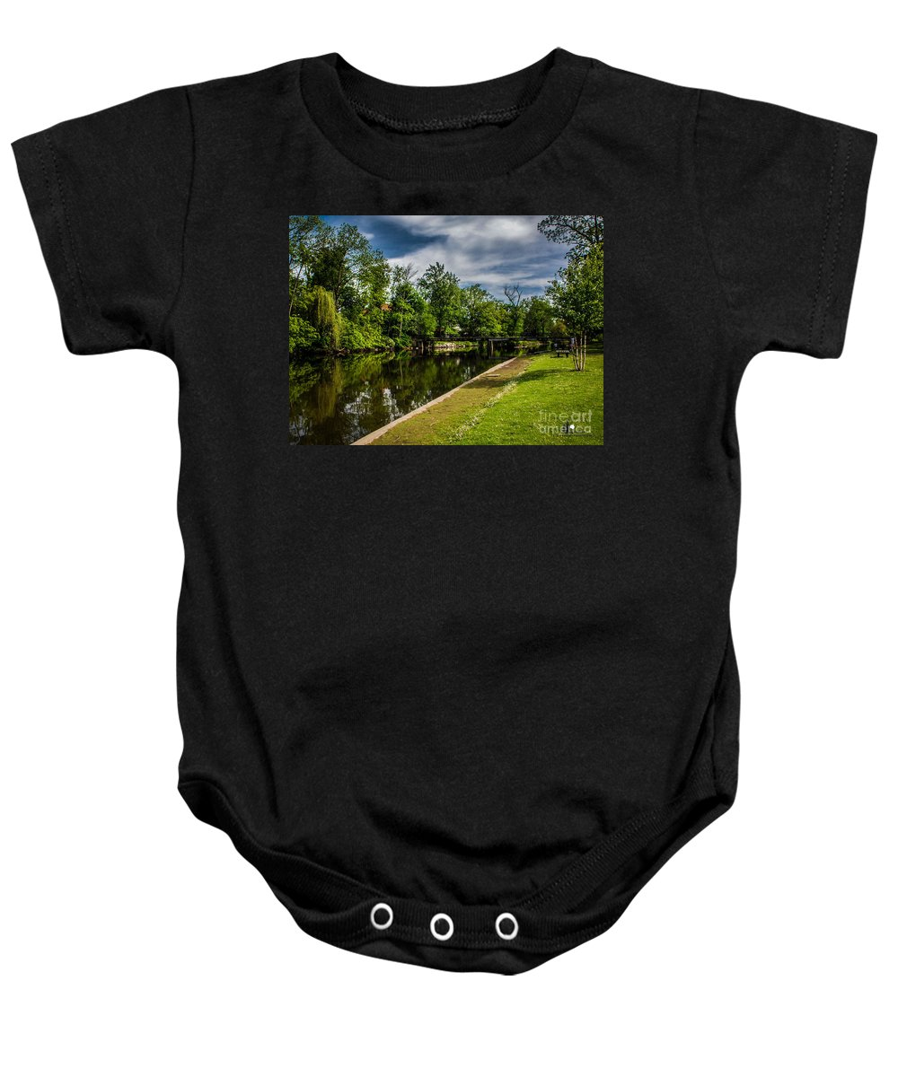 Eaton Rapids Baby Onesie featuring the photograph Eaton Rapids Island Park by Grace Grogan