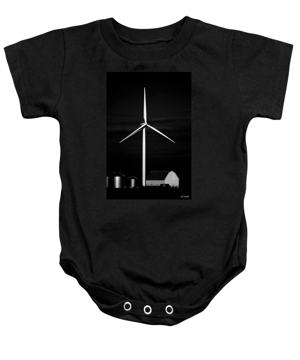 Eggs To Electricity Baby Onesie featuring the photograph Eggs To Electricity by Ed Smith