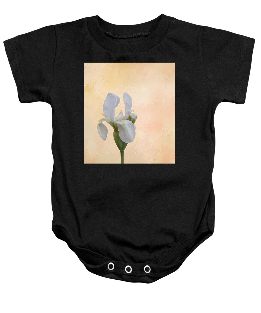 Flower Baby Onesie featuring the photograph Elegance In White by Kim Hojnacki