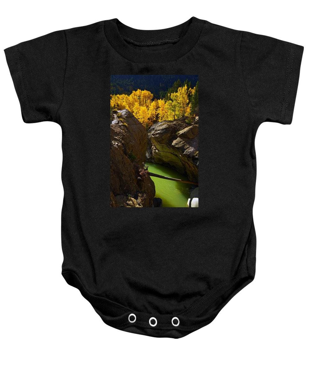 Colorado Baby Onesie featuring the photograph Emerald Canyon by Jeremy Rhoades
