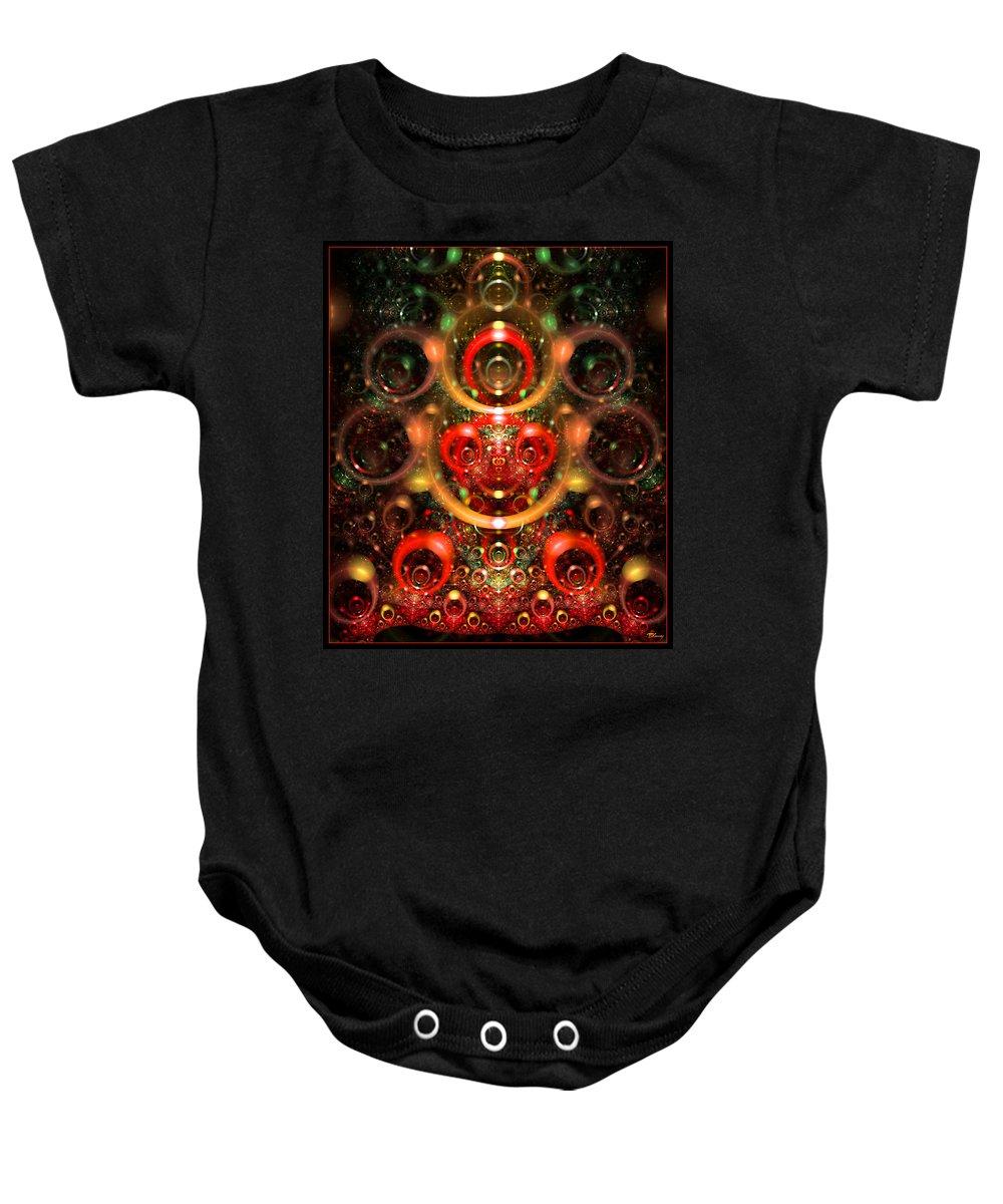 Emerge Baby Onesie featuring the digital art Emergence by Brian Kenney