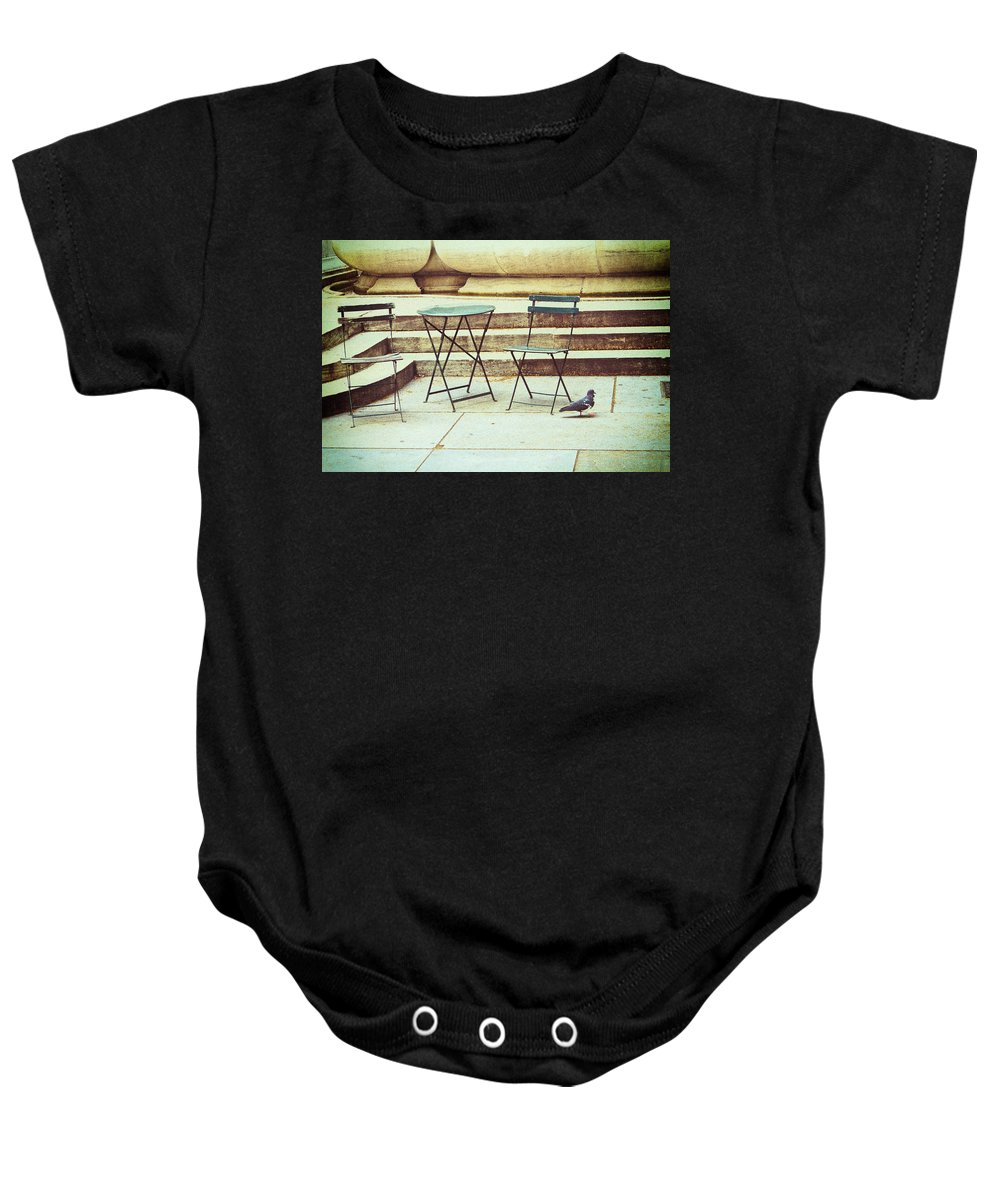 Nyc Baby Onesie featuring the photograph Empty by Karol Livote