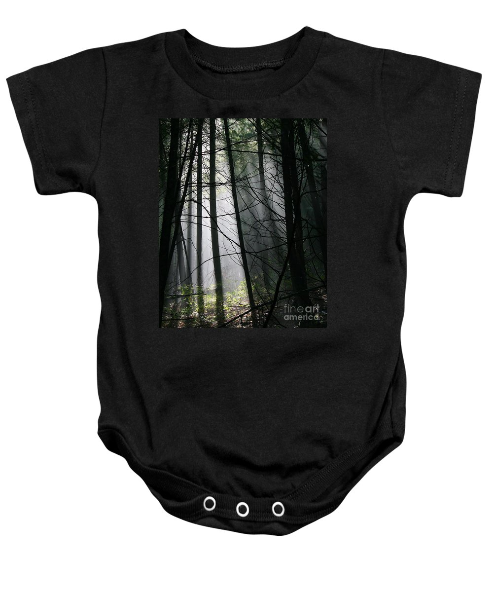 Light Baby Onesie featuring the photograph Encounters Of The Vermont Kind by Neal Eslinger