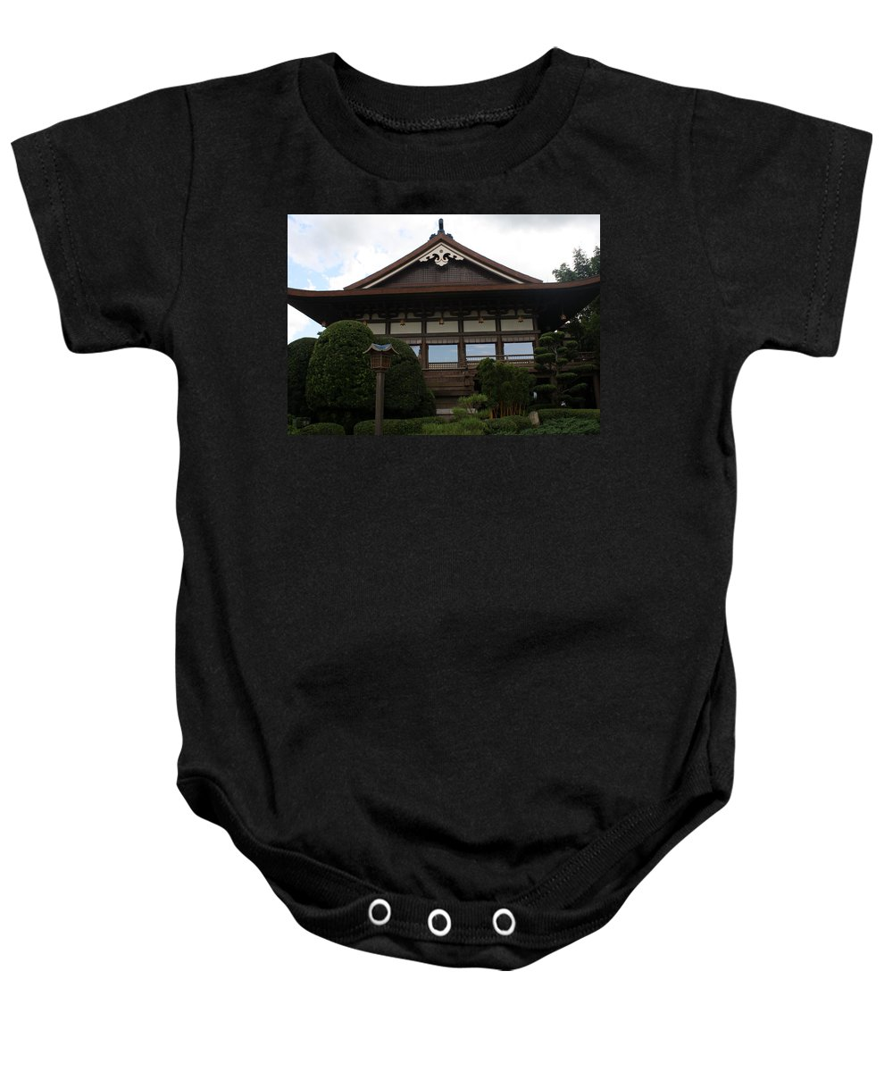 Epcot Baby Onesie featuring the photograph Epcot Pavillion by David Nicholls