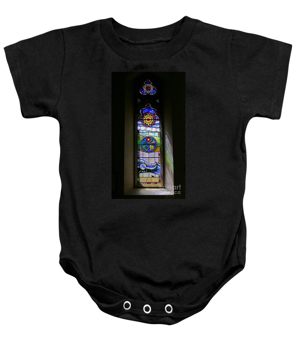 Ephphatha Baby Onesie featuring the photograph Ephphatha by John Chatterley