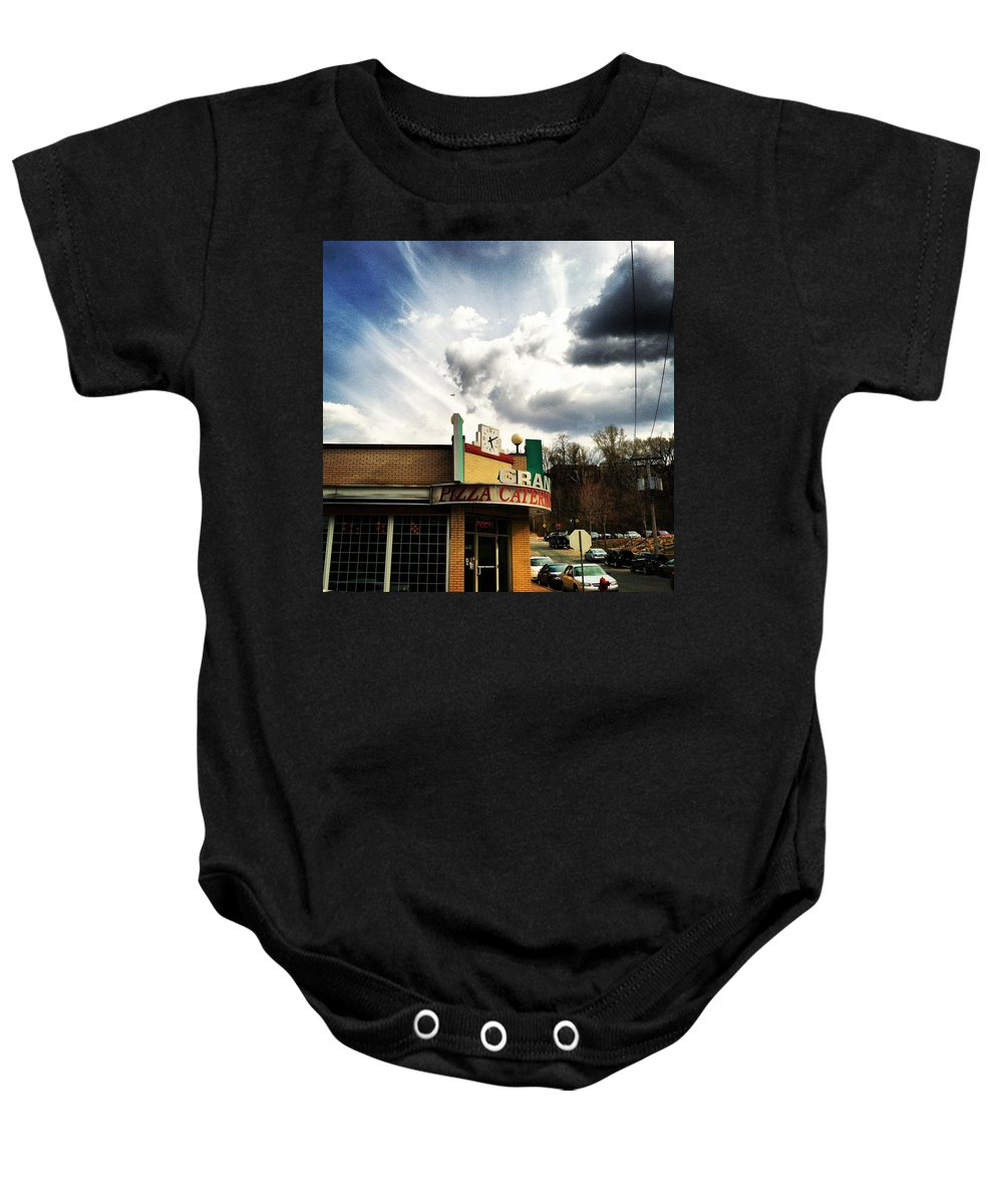 Sky Baby Onesie featuring the photograph Epic Sky by Jana Nyberg