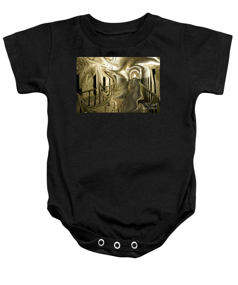 Eastern State Penitentiary Baby Onesie featuring the photograph Escape From Cell Block Seven by Paul W Faust - Impressions of Light