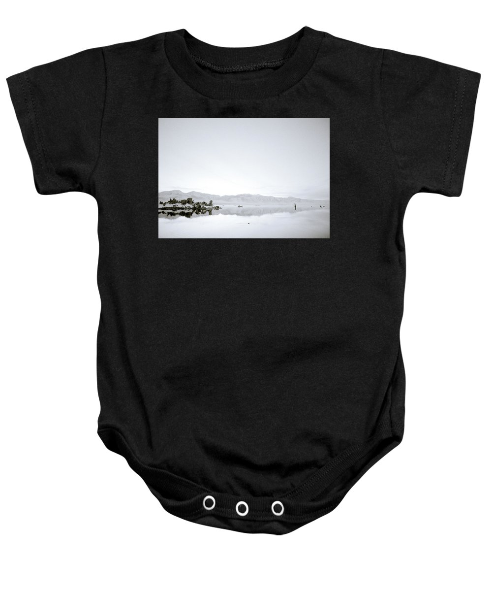 Inspiration Baby Onesie featuring the photograph Ethereal Mono Lake by Shaun Higson