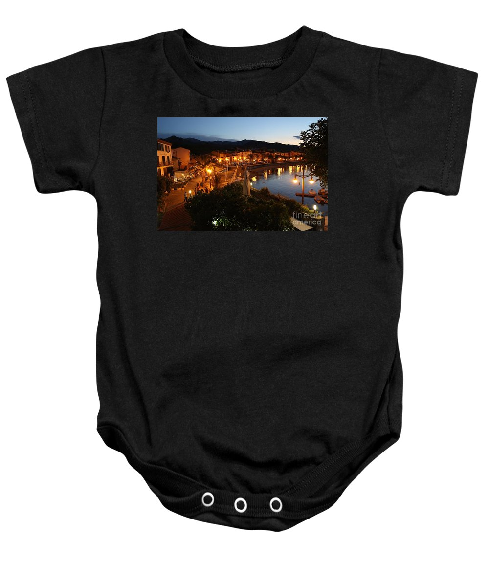 France Baby Onesie featuring the photograph Evening Light In Collioure by Carol Groenen