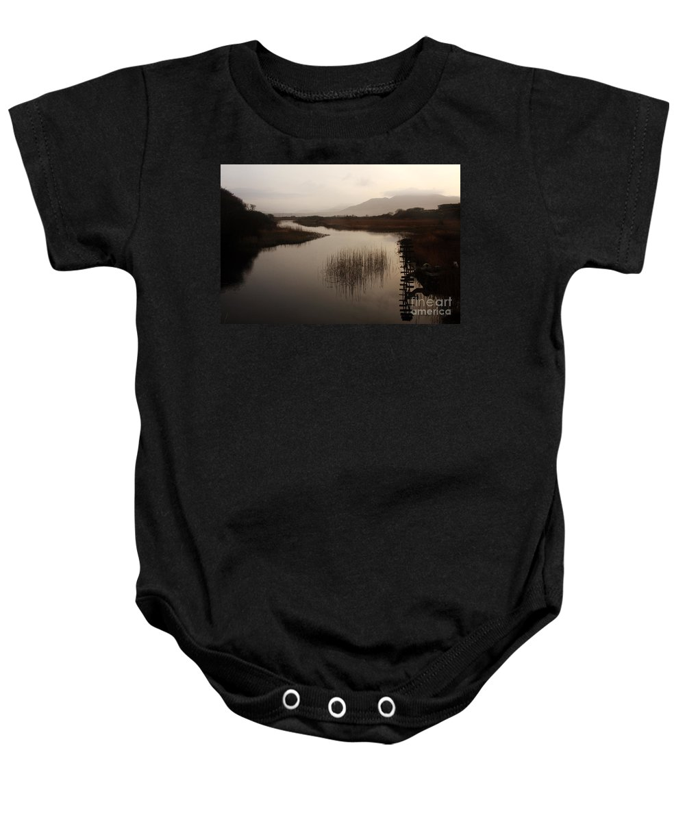 Ireland Baby Onesie featuring the photograph Evening River Scene by Aidan Moran