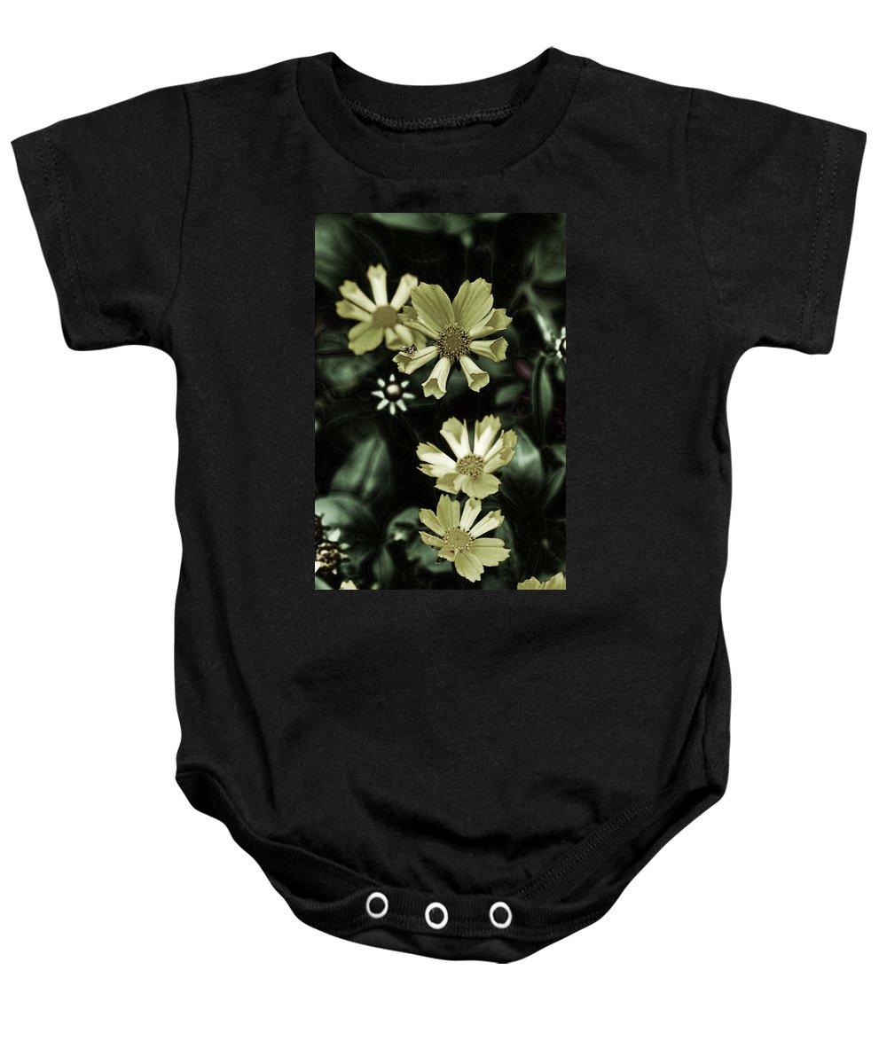 Flower Baby Onesie featuring the digital art Evening Shadows by Bonnie Willis