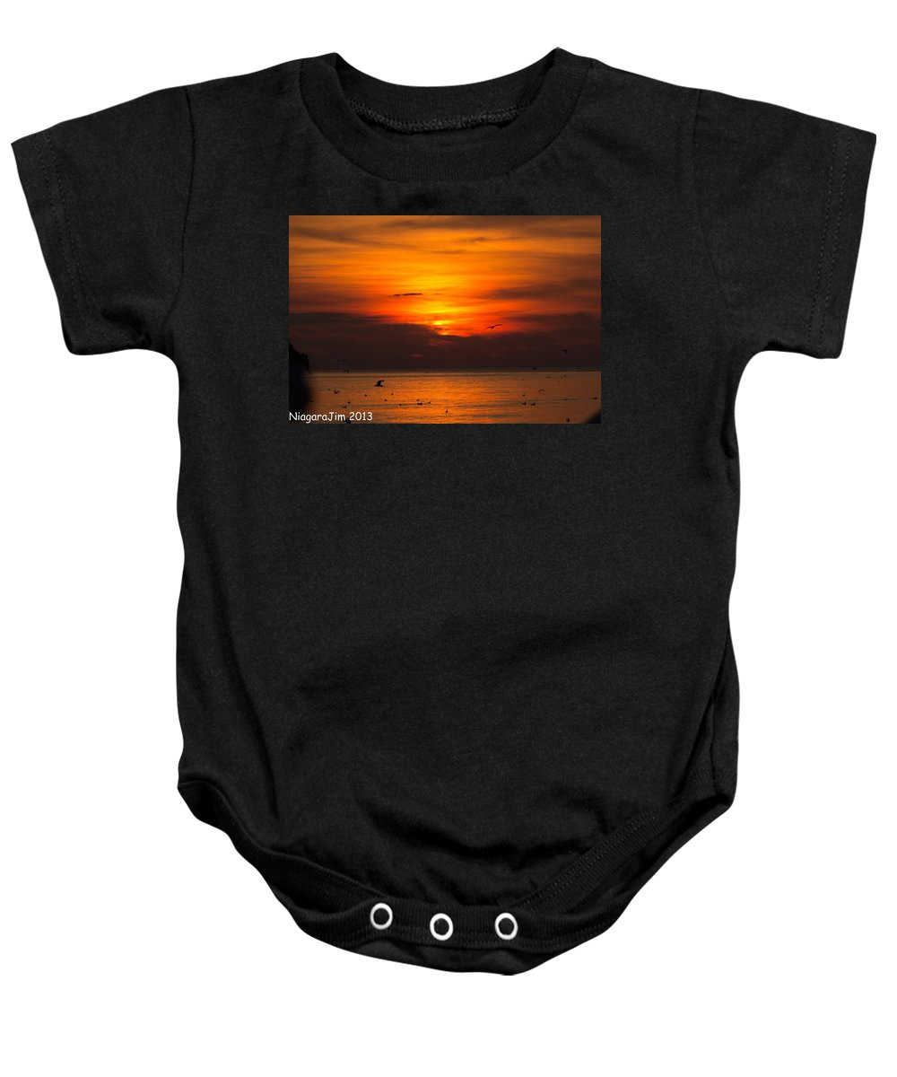 Evening Baby Onesie featuring the photograph Evening Sky by Jim Koniar