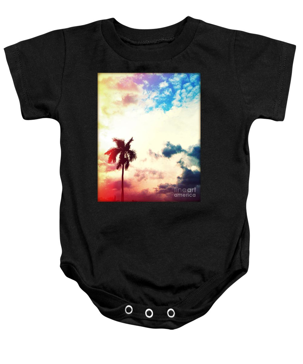 Florida Baby Onesie featuring the photograph Evening Storm Photography Light Leaks2 by Chris Andruskiewicz