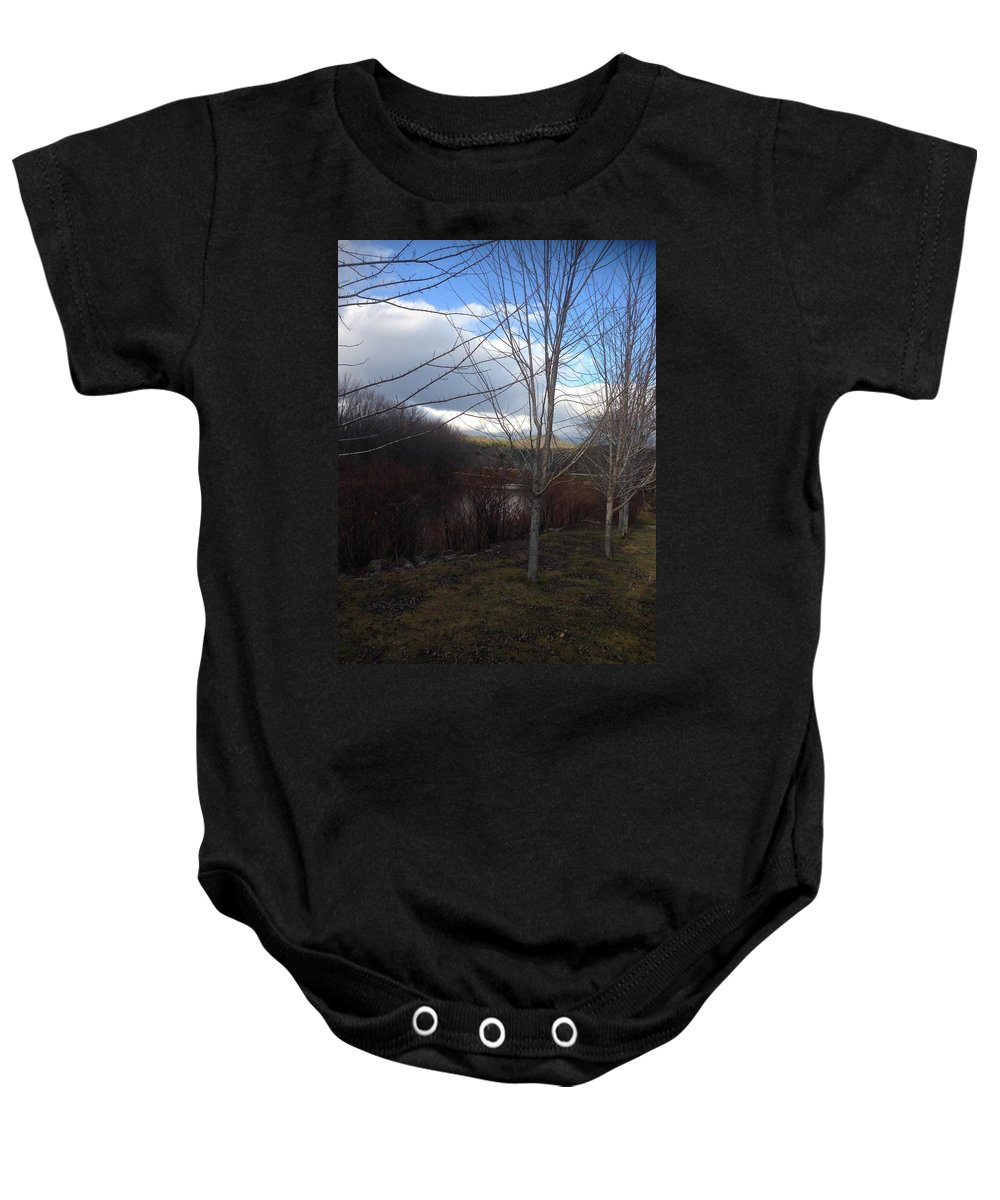 Landscape Baby Onesie featuring the photograph Evening's Approach by Bill Minkowitz