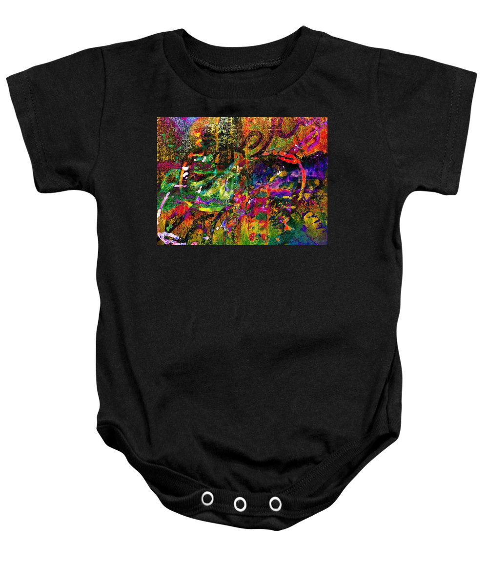 Graffiti Baby Onesie featuring the photograph Evermore Graffiti by David Pantuso