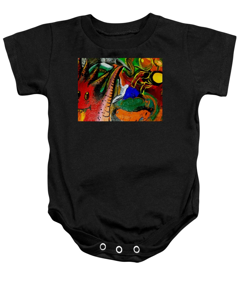 Evil Baby Onesie featuring the painting Evil Aloe Vera by Laurette Escobar
