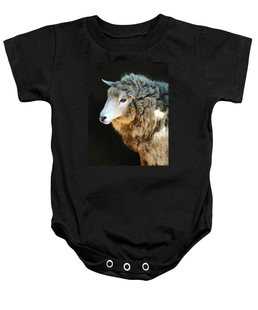 Ewe Are So Beautiful Baby Onesie featuring the photograph Ewe Are So Beautiful by Ellen Henneke