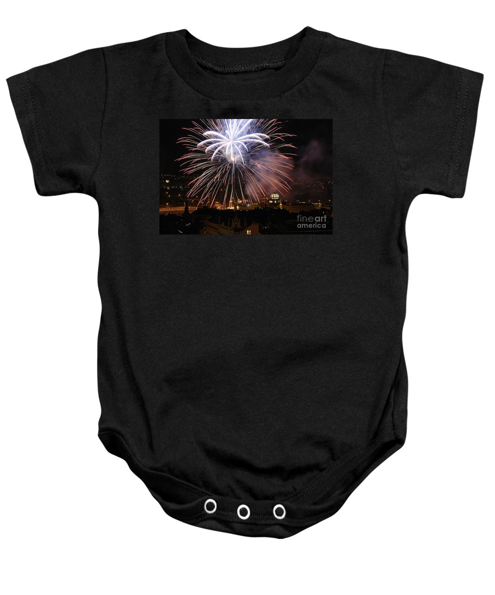 Prague Baby Onesie featuring the photograph Exploding Stars by Syed Aqueel