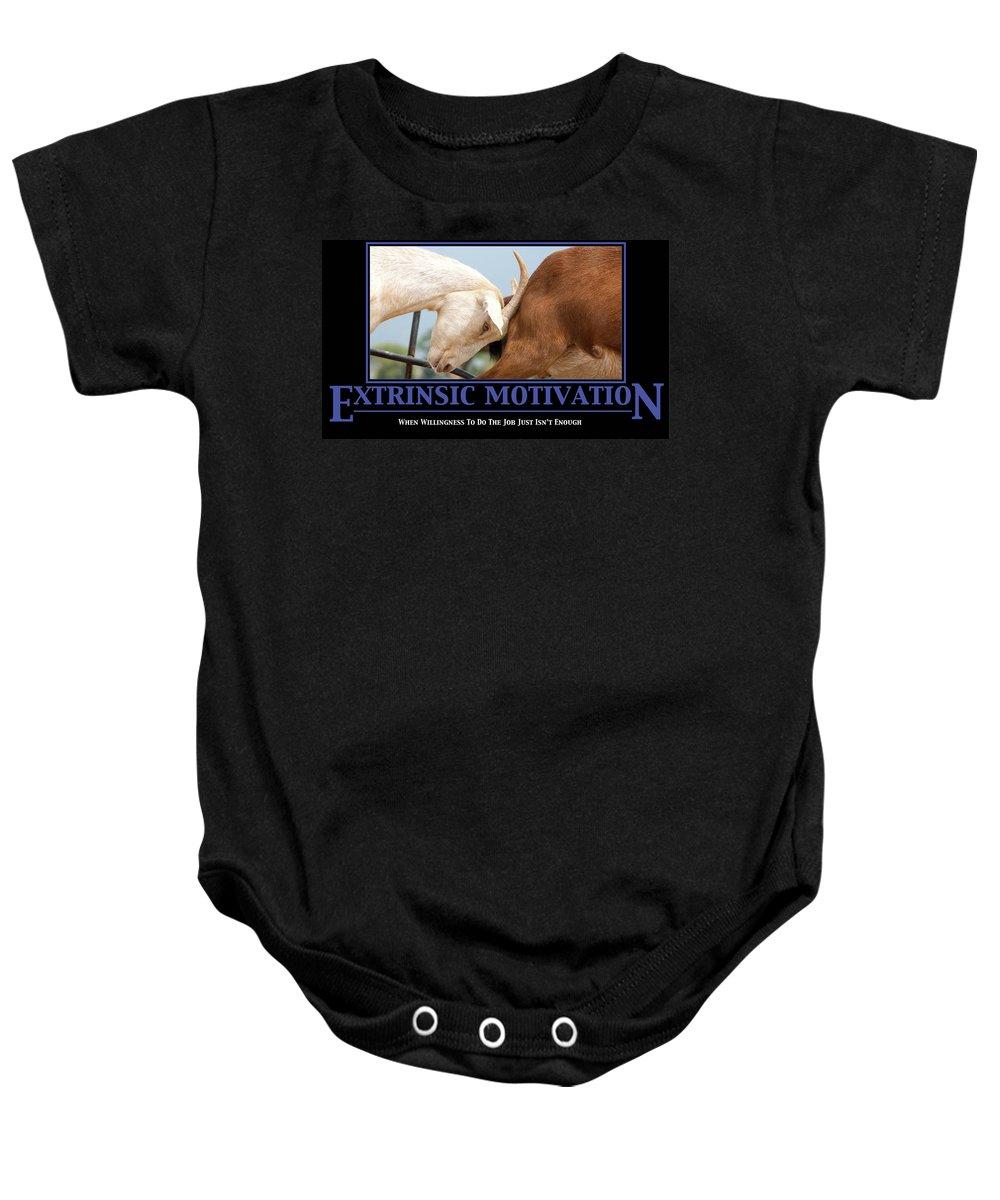 Demotivation Baby Onesie featuring the photograph Extrinsic Motivation De-motivational Poster by Lisa Knechtel