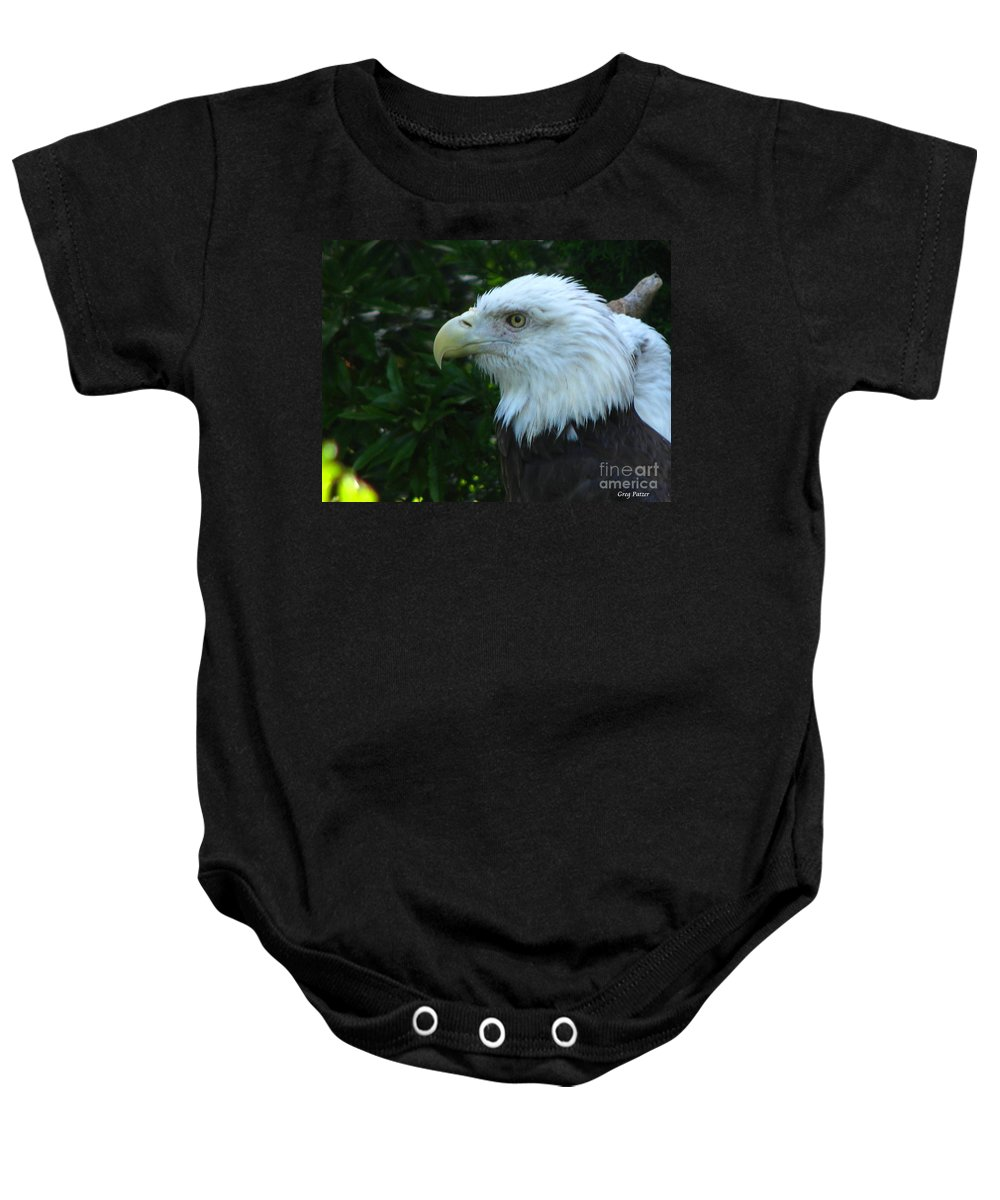 Eagle Baby Onesie featuring the photograph Eyecon by Greg Patzer