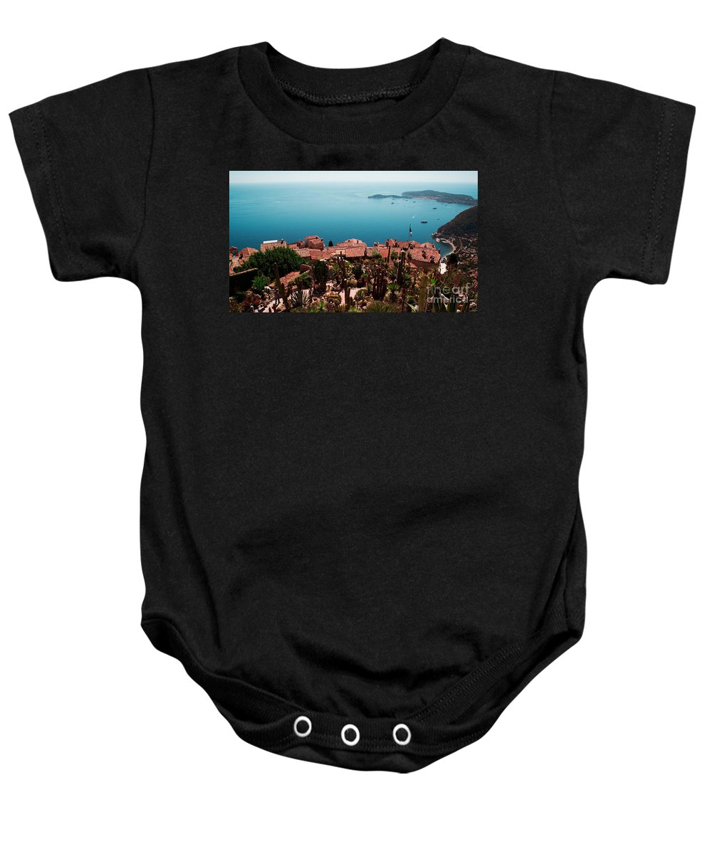 Eze Baby Onesie featuring the photograph Eze France by Phill Petrovic