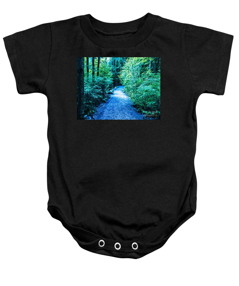 Enchanted Forest Baby Onesie featuring the photograph F0010066 by David Fabian