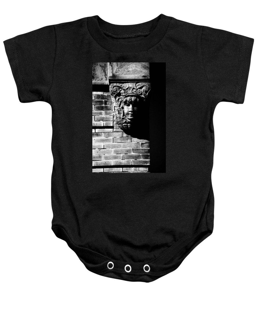 Building Baby Onesie featuring the photograph Face Of Stone by Karol Livote