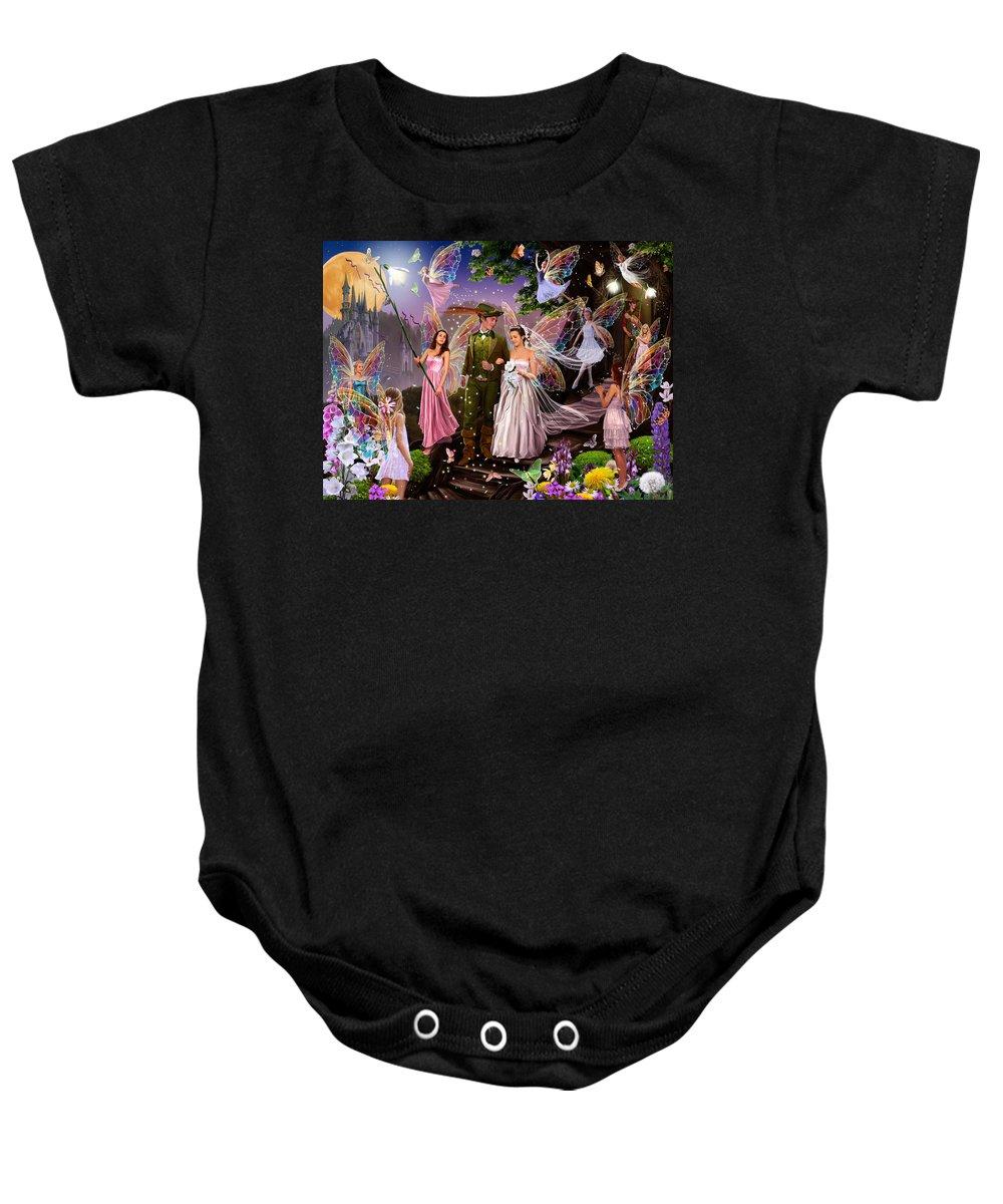 Boy Baby Onesie featuring the photograph Fairy Wedding by Garry Walton