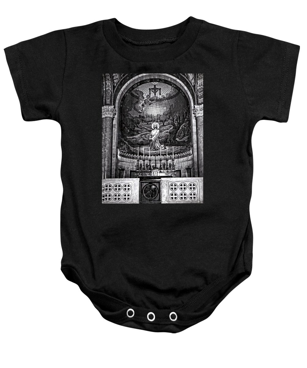 Vintage Baby Onesie featuring the photograph Faith by Image Takers Photography LLC