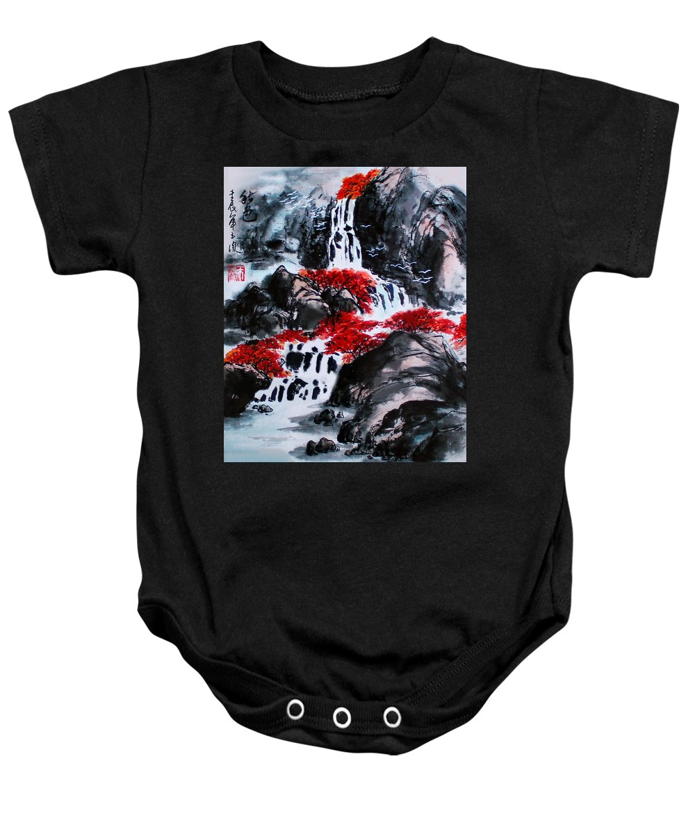 Fall Colors Baby Onesie featuring the photograph Fall Colors by Yufeng Wang
