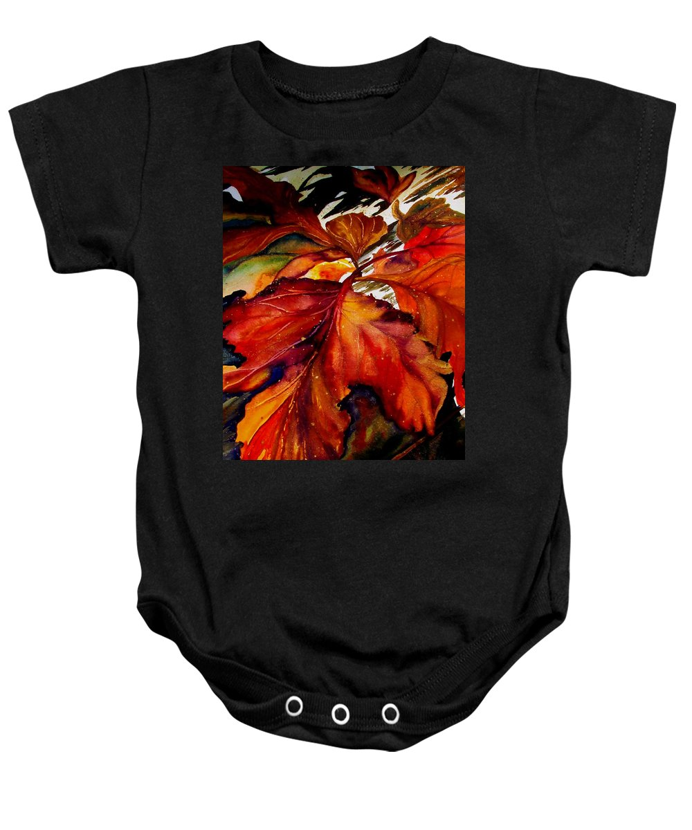 Autumn Baby Onesie featuring the painting Autumn Dressage by Lil Taylor