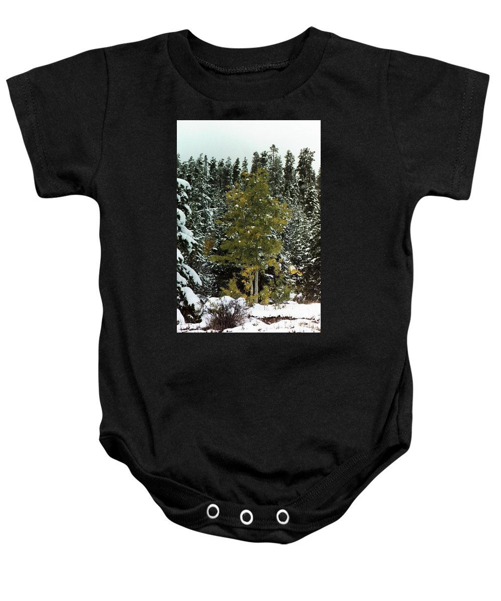 Fall Baby Onesie featuring the photograph Fall Into Winter by Brandi Maher